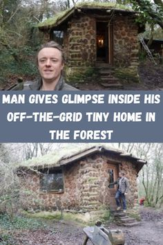 Living off the grid can be as rewarding as it is taxing, as it takes a lot of effort to live off the land and its resources. For Kris Harbour, who lives in a tiny rural home in the Welsh woods, he'd rather have it no other way.