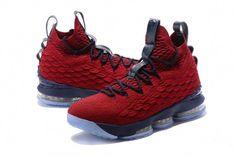 8e8c0215bee6 Nike LeBron XV Mens Basketball Shoes Wine Navy White