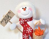 *SNOWMAN ~ ornament with noses for sale