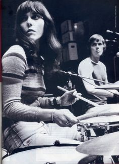 Karen Carpenter drumming