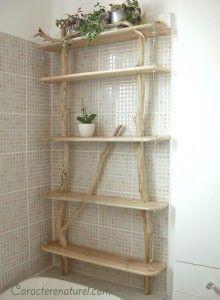 Kitchen--From goole Log Furniture, Furniture Making, Wood Design, Diy Design, Beach Wood, Creative Decor, Wood Shelves, Interior Design Living Room, Concrete Floor