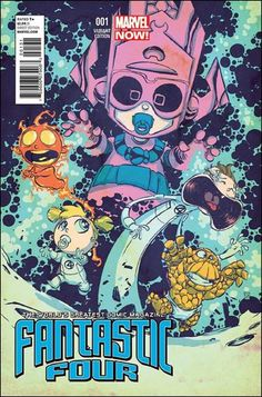 """Fantastic Four (2013) #1 Skottie Young """"Baby"""" Cover"""