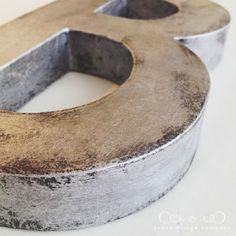 DIY Zinc Letters - Best of DIY at Centsational Girl