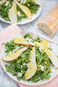 Recipe: Arugula, Pear & Blue Cheese Salad with Warm Vinaigrette — Salad Recipes from The Kitchn