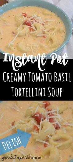 Delicious Instant Pot Creamy Tomato Basil Tortellini Soup will be your new go to recipe. Perfect as a meal chock full of tortellini and creamy tomato soup. Creamy Tortellini Soup, Creamy Tomato Basil Soup, Chicken Tortellini, Tortellini Recipes, Tomato Soup, Instant Pot Pressure Cooker, Pressure Cooker Recipes, Pressure Cooking, Slow Cooker