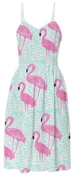 Flamingos and Waves Dress from Print All Over Me