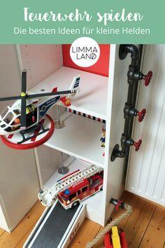Feuerwehr Geschenke für Kinder! Diese tolle Feuerwache könnt ihr mit unseren Folien für das BILLY Regal basteln. Ideal für ein Feuerwehr Kinderzimmer oder einen Feuerwehr Geburtstag. Weitere Ideen von uns findet ihr im Blog und im Shop. www.limmaland.com/blog