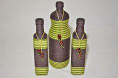 garrafa decorada com barbante - Pesquisa Google