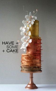 Large Wedding Cakes, Metallic Wedding Cakes, Creative Wedding Cakes, Beautiful Wedding Cakes, Beautiful Cakes, Amazing Cakes, Creative Cakes, Modern Cakes, Unique Cakes