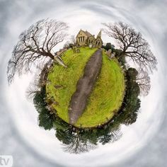 How To Create A Little Planet Panorama In Photoshop. Article by Miki Ross…