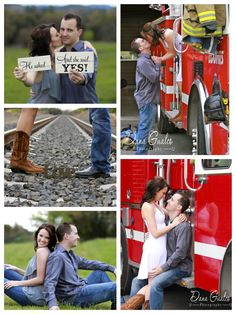 Engagement! We are going to have to do thus with our yellow trucks though! So cute!!!!!!!!  :D