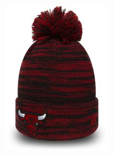 buy popular 843e7 1f9f6 Chicago Bulls New Era Kids Marl Knit Bobble Hat (Age 5 - 10 years)