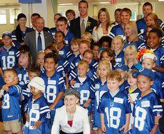 peyton manning children's hospital | ... with Peyton Manning and Kids at the Peyton Manning Children's Hospital