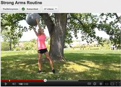 Skinny Mom STRONG ARMS Workout VIDEO!