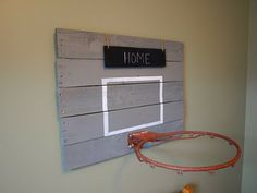 Vintage looking basketball backboard for bedroom