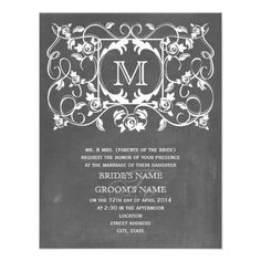 DealsVintage ChaIk Inspired & Roses Monogram Wedding Personalized Invitationso please read the important details before your purchasing anyway here is the best buy