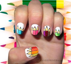 School-Theme Nail Designs That Make Us Want to Hit the Books | Hair ...