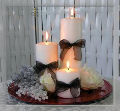 Simple Rehearsal Dinner Centerpieces Candle Arrangements Wedding Table