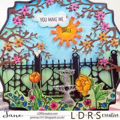 A Garden Escape! – LDRS Creative You Make Me, Make Me Smile, Diorama Kids, Happy New Year Everyone, Paper Crafts, Creative, Garden, Floral, Blog