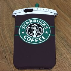 Starbucks iphone 6 case For the Starbucks lover.. soft, durable Iphone 6 case which looks like a full Starbucks cup of coffee. Made of soft rubber material. ☕️ Accessories Phone Cases