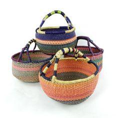 Pearl Beach, Round Basket, Large Baskets, Ghana, How To Look Pretty, Hand Weaving, Elephant, Vegan, Handmade