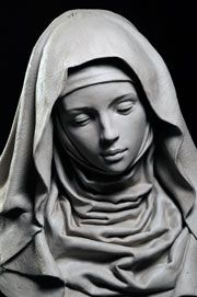Gertrude PCF Studios - Sculpture - Print the sulpture yourself - Stone Sculptures Full Figure Portrait Sculpting by Philippe Faraut Religious Tattoos, Religious Art, Religious Studies, Religion, Mother Mary, Madonna, Art Reference, Michelangelo, Sculpting