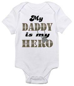 My Daddy is My Hero One-piece Baby Bodysuit