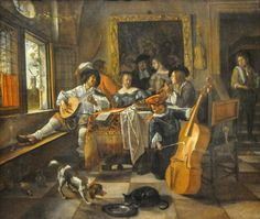 Jan Steen Art | Jan Steen - The Family Concert, 1666 at Art Institute of Chicago IL