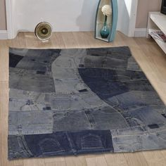 I love these denim rugs