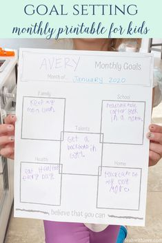 Goal setting for kids is a great skill to learn at a young age. Use this free printable to help your kids set monthly goals.