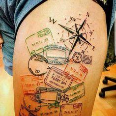 Pas fan des tatouages mais je crois que celui là pourrait bien me plaire �� #tatouage #tattoo #voyage #travel #traveling #visa #monde #roadtrip #souvenir http://tipsrazzi.com/ipost/1511074103275394484/?code=BT4aeQTBZW0