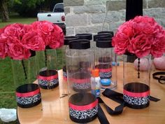 Great inexpensive step-by-step centerpieces, candle-free