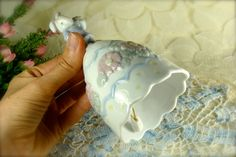 White and Pastel Easter Bunny Rabbit /Easter by HappyGalsVintage