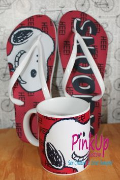 kit Caneca + Chinelo Snoopy