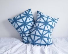 Two Shibori dyed pillowcases 100% cotton by IzzyandPiper on Etsy