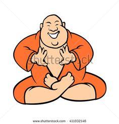 Smiling Buddha vector illustration