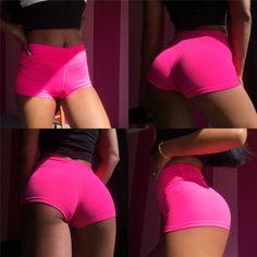 Women-Work-Out-Shorts-Fluorescence-Fitness-Short-Elastic-Women-Shorts-Sportwear