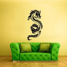 Wall Vinyl Decal Sticker Bedroom Decal Wall Decal Dragon z305