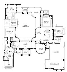 House Plans With Courtyards