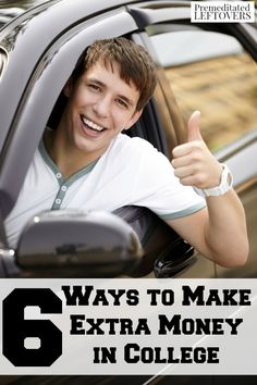6 Ways to Make Extra Money in College- Here are some ways for college students to make a little extra cash. These ideas are easy and don't require a lot of time.