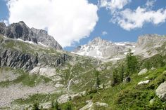Five stages from Oberalppass Rhone Glacier