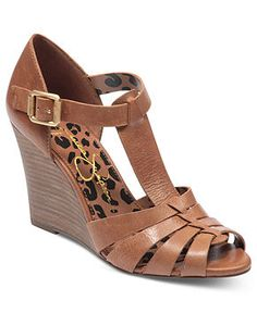 Jessica Simpson Shoes, Rebi T-Strap Wedge Sandals - Shoes - Macy's