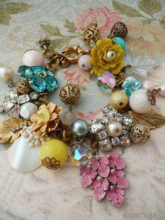 Bracelet made from vintage elements.