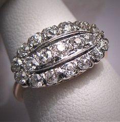Antique Diamond Wedding Ring Vintage Art Deco by AawsombleiJewelry, $2850.00