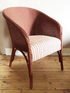 Vintage Lloyd Loom chair thingslessordinary.com