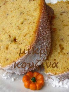 Κεικ με κολοκυθα και φουντουκια Sweet Recipes, Cake Recipes, Dessert Recipes, Desserts, Greek Sweets, Greek Cooking, Food Platters, Pastry Cake, Pumpkin Dessert