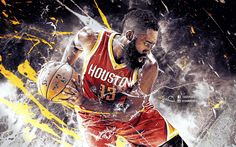 James Harden NBA Wallpaper by skythlee on DeviantArt Houston Basketball, Rockets Basketball, Best Basketball Shoes, Basketball Art, Basketball Players, Basketball Scoreboard, Basketball Tickets, Houston Rockets, Nba Background