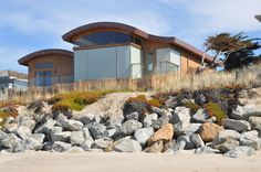 Architect and builder of new and remodeled beach homes and commercial buildings in Santa cruz and Monterey counties. Monterey County, Building A House, Beach House, New Homes, Construction, California, Group, Mansions, Architecture