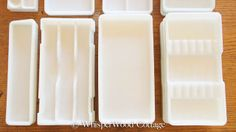 WhisperWood Cottage: Vintage Milk Glass Dental Trays as...Jewelry Organizers!...I love these! so very pretty!