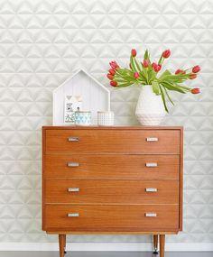 Merida | Papel de parede geométrico | Padrões de papel de parede | Papel de parede dos anos 70